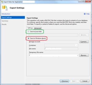Backup Windows Azure SQL Database with Sql Server Management Studio