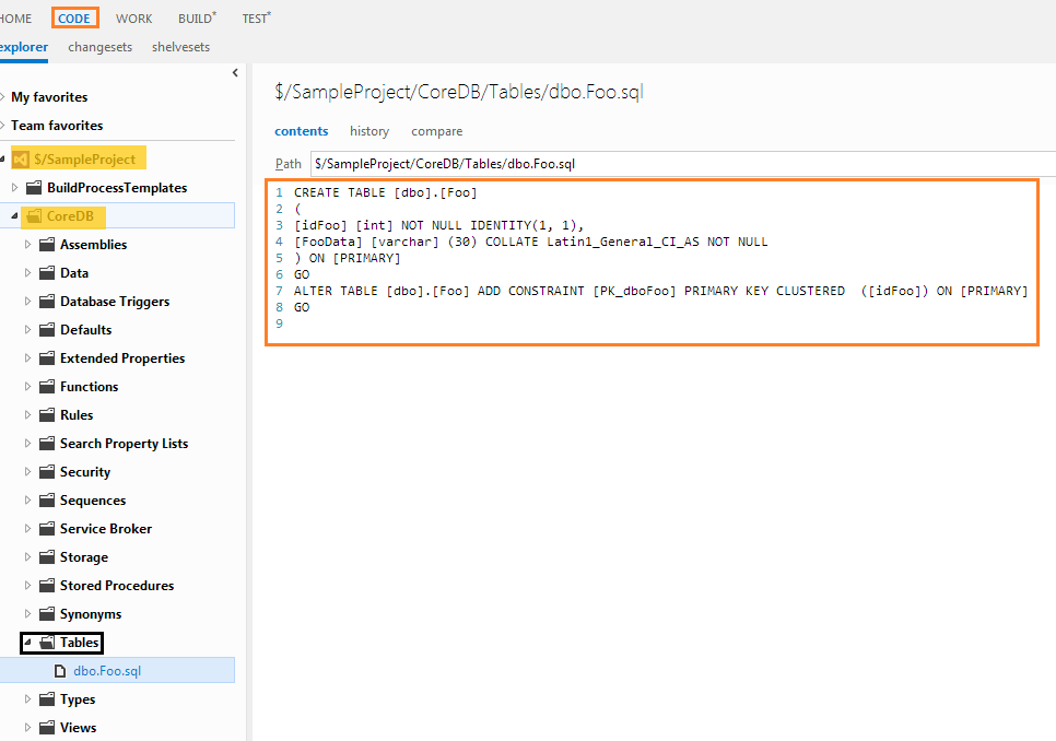 SQL Server under source control with Team Foundation