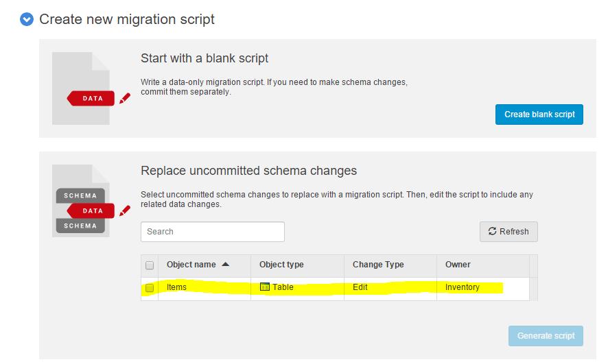 02 - Migration script
